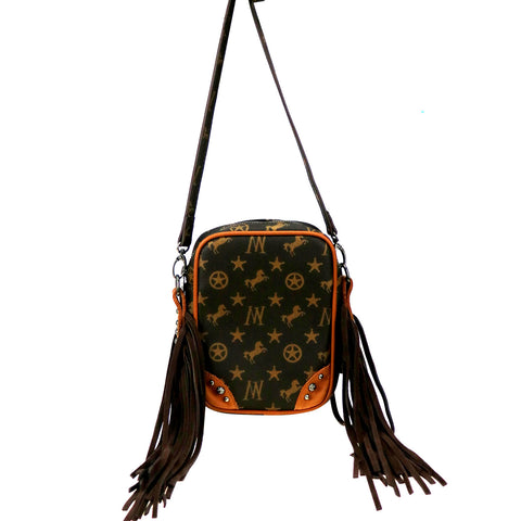 MW908-186   Montana West Signature Monogram Collection Crossbody bag