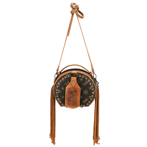 MW909-101 Montana West Signature Monogram Collection Crossbody/Hip Bag