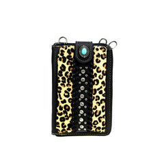 MW911-183   Montana West Leopard Print Collection Phone Case Crossbody Wallet
