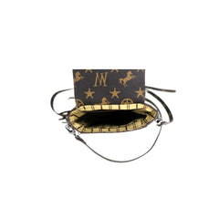 MW911-190   Montana West Signature Monogram Collection Phone Wallet/Crossbody