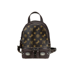 MW913-9110 Montana West Signature Monogram Collection Mini Backpack