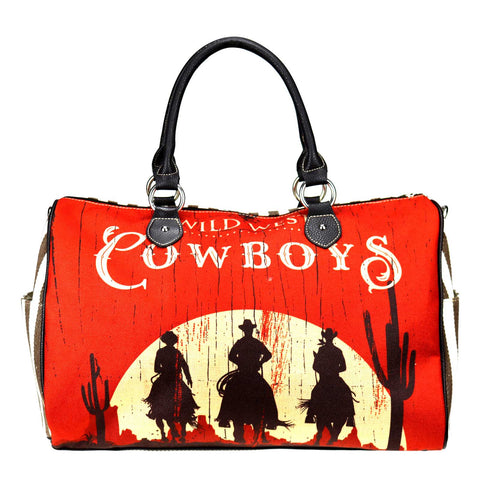 MW924-5110 Montana West Cowboy Collection Canvas Weekender Bag