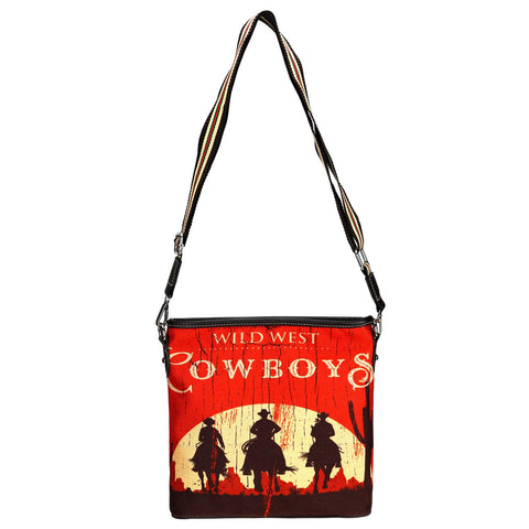MW924-8360 Montana West Cowboy Collection Canvas Crossbody
