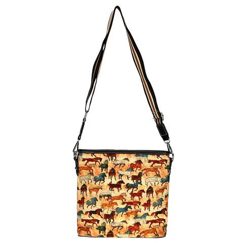 MW927-8360 Montana West Horse Collection Canvas Crossbody