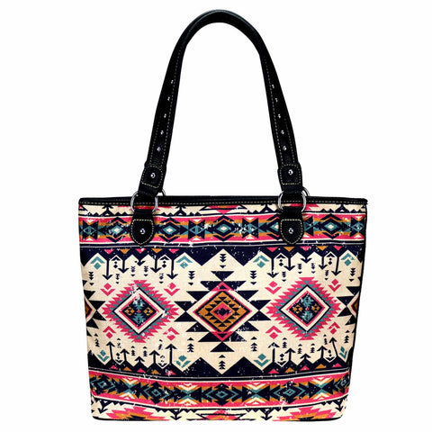 MW928-8112 Montana West Aztec Collection Canvas Tote Bag
