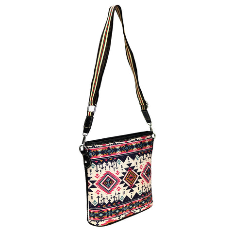 MW928-8360 Montana West Aztec Collection Canvas Crossbody