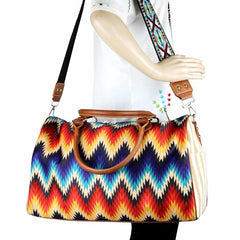 MW930-5110 Montana West Serape Canvas Duffle Bag
