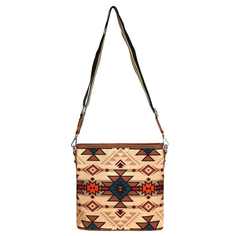 MW932-8360 Montana West Aztec Canvas Crossbody