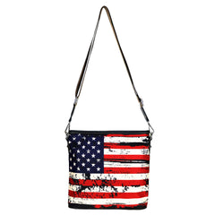 MW933-8360 Montana West American Flag Canvas Crossbody