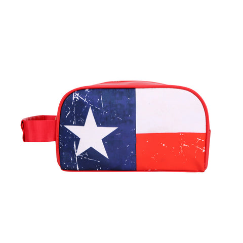 MW934-190  Montana West Texas Flag Print Multi Purpose/Travel Pouch