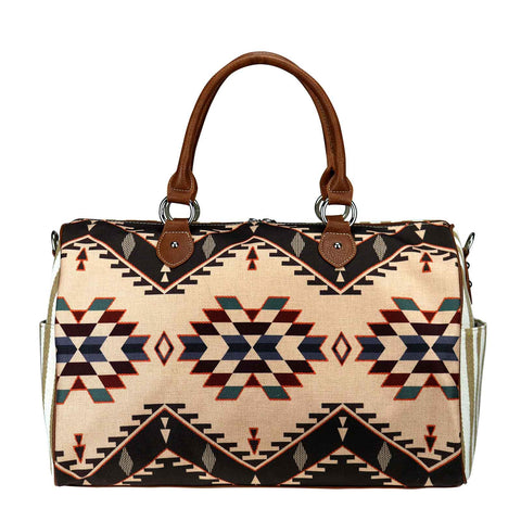 MW936-5110 Montana West Aztec Canvas Weekender Bag