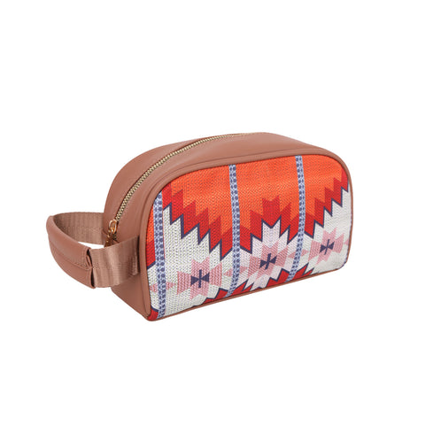 MW937-190  Montana West Brown Aztec Print Multi Purpose/Travel Pouch