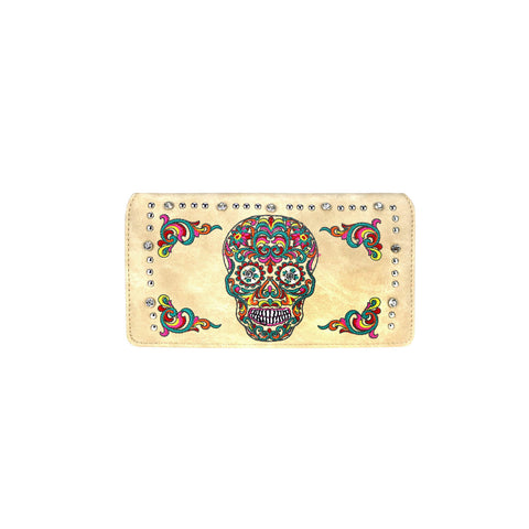 MW941-W010 Montana West Sugar Skull Collection Wallet
