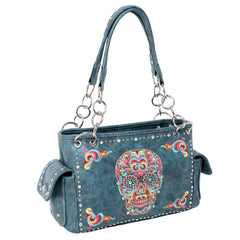 MW941G-8085 Montana West Sugar Skull Collection Concealed Handgun Satchel