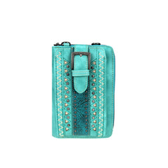 MW947-183   Montana West Buckle Collection Phone Wallet/Crossbody