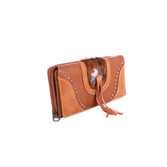 MW955-W010 Montana West Concho/Cowhide Collection Wallet