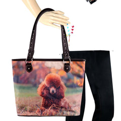 MW965-8112 Montana West  Pet Printed Dogs Collection Canvas Tote Bag