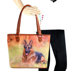 MW966-8112 Montana West  Pet Printed Dogs Collection Canvas Tote Bag