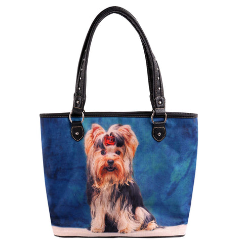 MW967-8112 Montana West  Pet Printed Dogs Collection Canvas Tote Bag
