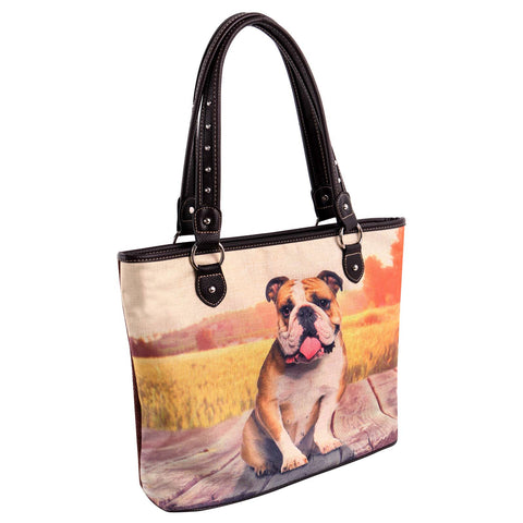MW968-8112 Montana West  Pet Printed Dogs Collection Canvas Tote Bag