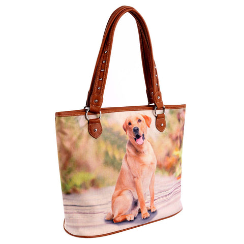 MW969-8112 Montana West  Pet Printed Dogs Collection Canvas Tote Bag