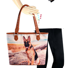 MW970-8112 Montana West  Pet Printed Dogs Collection Canvas Tote Bag