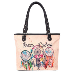 MW979-8112 Montana West Dream Catcher Canvas Tote Bag