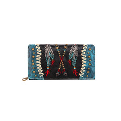 MW986-W010 Montana West Aztec Collection Secretary Style Wallet