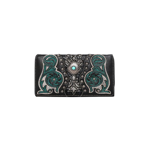 MW993-W010 Montana West Embroidered Collection Wallet