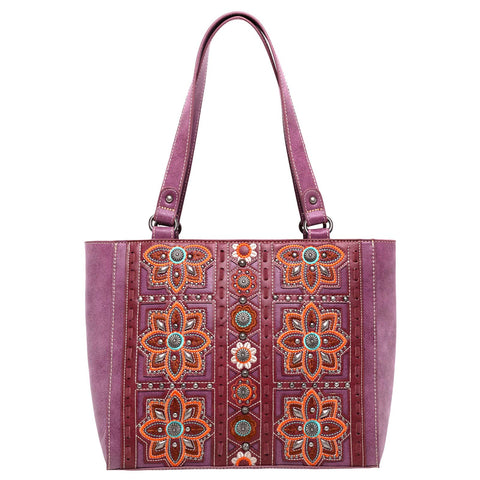 MW994G-8317  Montana West Embroidered Collection Concealed Carry Tote