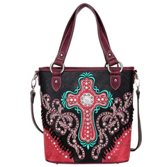 MW995G-8461 Montana West Spiritual Collection Concealed Carry Tote/Crossbody