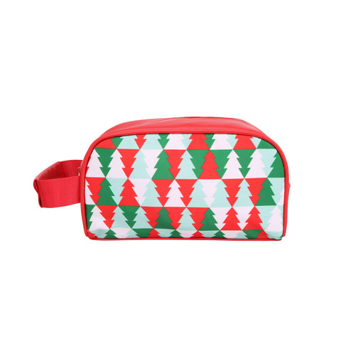 MW997-190  Montana West X'Mas Print Multi Purpose/Travel Pouch