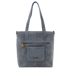 MWL-G015 Montana West Real Leather Safety Travel Tote/Crossbody