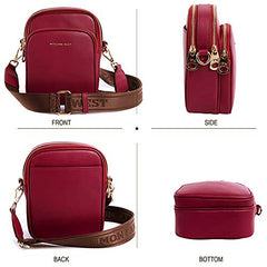 MWL-008 Montana West Genuine Leather Shoulder/Crossbody Bag-Burgundy