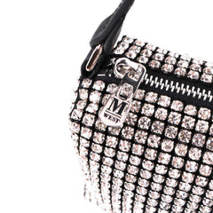MWL-019 Montana West Real Leather Bling Clutch Rhinestones Purses/Shoulder Bag