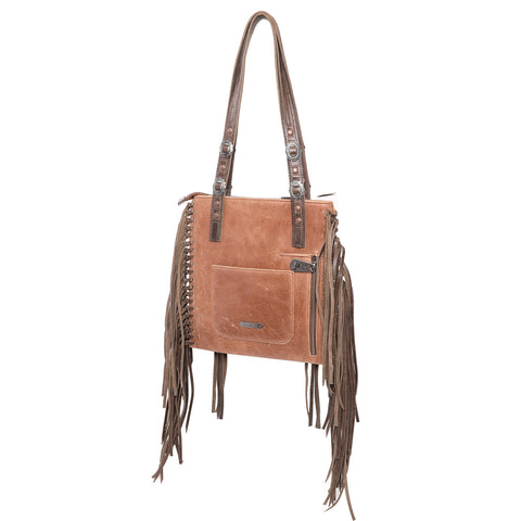 MWL-020  Montana West Real Leather Fringe Collection Concealed Carry Boho Shoulder Bag