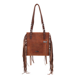 MWL-G020  Montana West Real Leather Fringe Collection Concealed Carry Boho Shoulder Bag