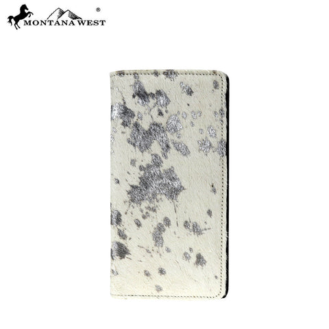MWL-W023 Genuine Metallic Burnout Cowhide Collection Men's Wallet
