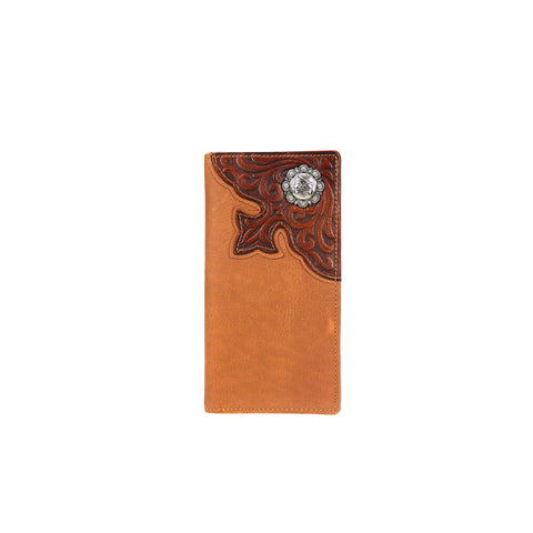 MWL-W027 Genuine Tooled Leather Pistol Collection Men's Wallet