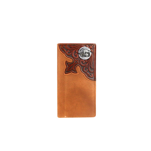 MWL-W028 Genuine Tooled Leather Collection Men's Wallet