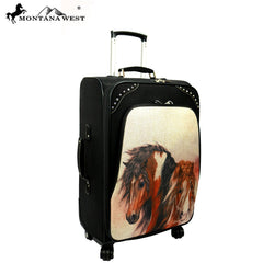 MWL08-L01/2/6 Montana West Horse Art 3 PC Luggage Set -Laurie Prindle Collection
