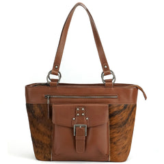 MWRG-8317  Montana West Real Leather Hair-On Cowhide Collection Tote