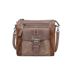 MWRG-9360 Montana West Genuine Leather Buckle Concealed Carry Crossbody