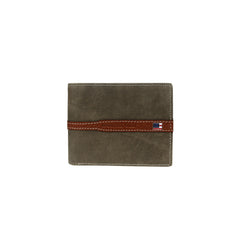 MWS-028 Genuine Leather US Flag Logo Men's Wallet
