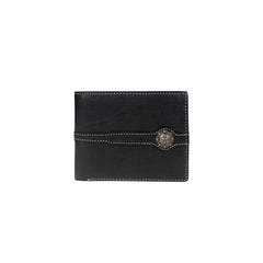 MWS-029 Genuine Leather Cross Concho Men's Wallet