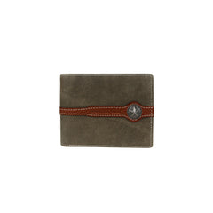 MWS-031 Montana West Genuine Leather Lone Star Concho Men's Wallet