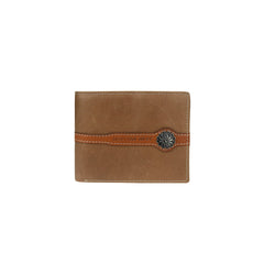 MWS-032 Montana West Genuine Leather Concho Men's Wallet
