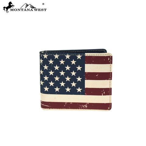 MWS-US01 Genuine Leather Patriotic Collection Men's Wallet