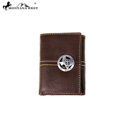 MWS-W006 Genuine Tooled Leather Spiritual Collection Men's Wallet