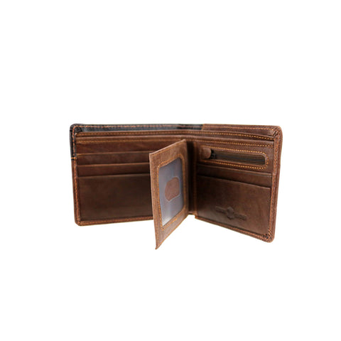 MWS-W017 Genuine Tooled Leather Collection Men's Wallet